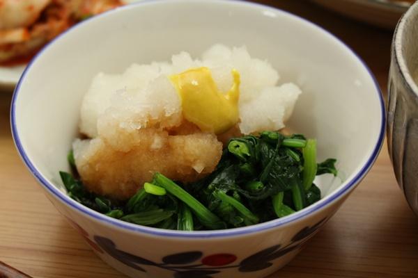 2016-12-05ほうれん草と大根おろしの辛子ポン酢和え.JPG