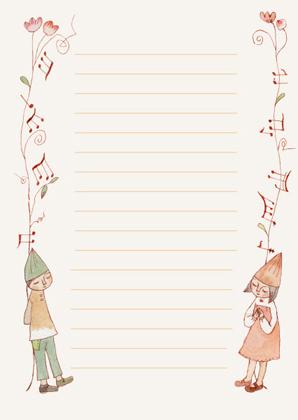 音符の便箋