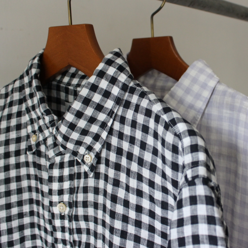 FRENCH LINEN CHECK BD SHIRTS