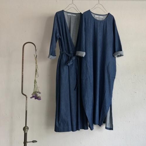 DENIM CACHE-COEUR & BALLOON DRESS