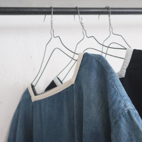 DENIM SAILOR WIDE SHIRT / DRESS