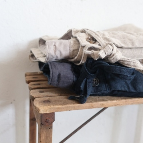 LINEN EASY TUCK PANTS