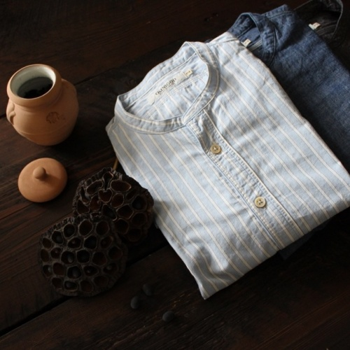 CLASSIC STAND COLLAR SHIRT