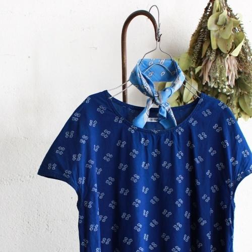 INDIGO BALLOON DRESS