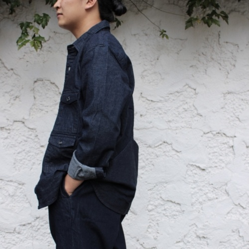 CPO JACKET & TUCK TAPERED TROUSERS PANTS