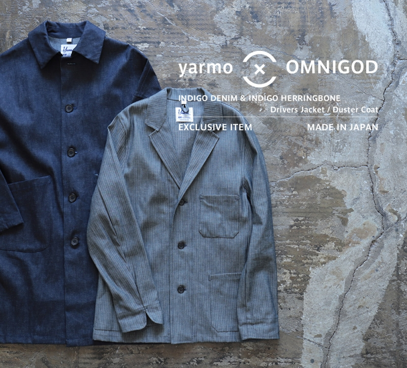 Yarmo×OMNIGOD   ダブルネーム 別注 ドライバースジャケット&ダスターコート