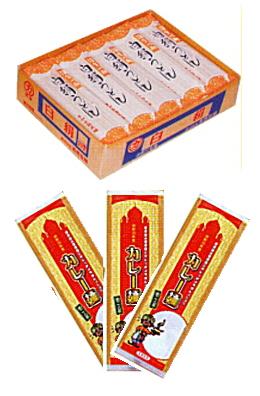 上=白絹うどん 下ーカレー麺