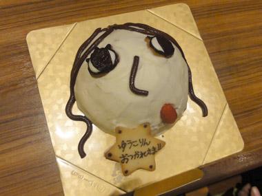 顔のケーキ