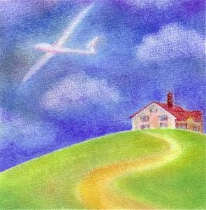 赤い屋根の家・グライダー