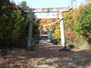秋葉・金毘羅神社の鳥居