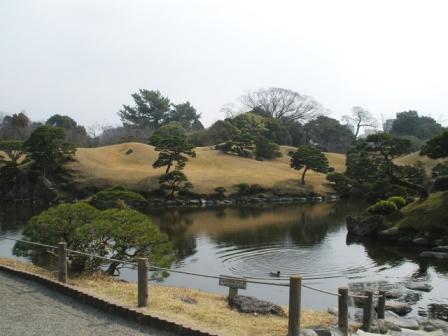 冬の水前寺公園