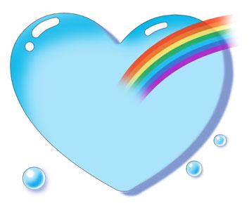 ハートと虹