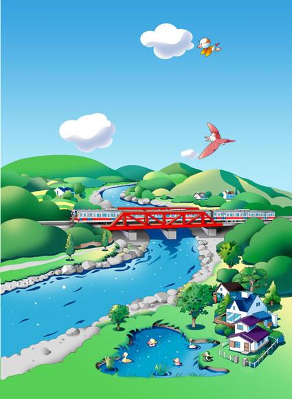 鉄橋と汽車