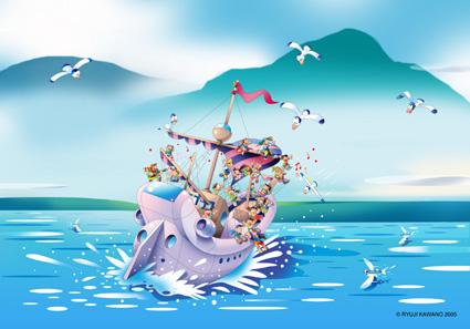 帆船 イラスト
