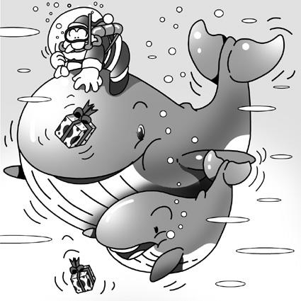 クジラの親子