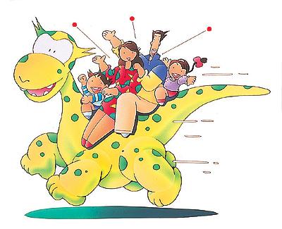 恐竜と家族