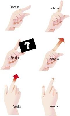 手の動き イラスト fotolia