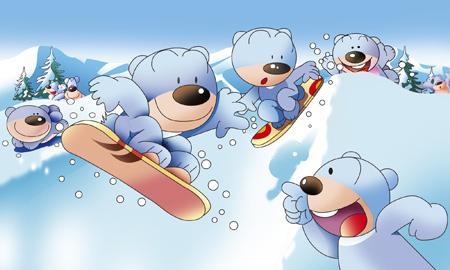 スノーボード 熊