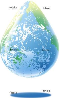 エコ 地球 ドロップ 水滴