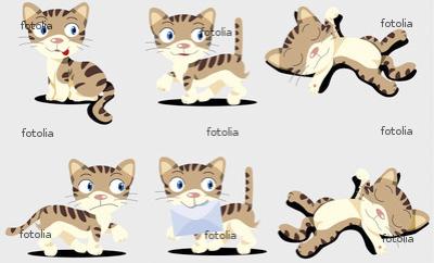 猫 キャラクター イラスト マスコットキャラクター