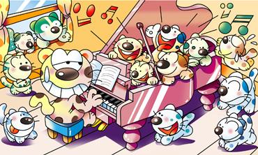 ピアノ 猫 間違い探しイラスト