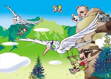 動物イラスト 鳥 ハングライダー