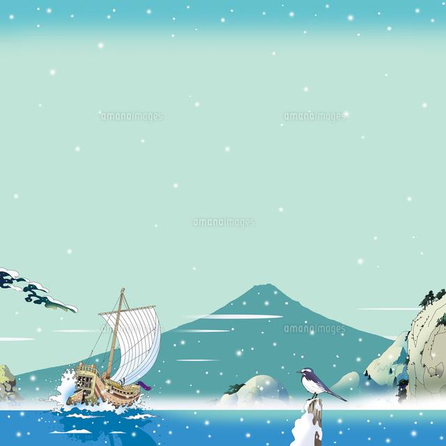 和風 風景画 富士山 カレンダーイラスト