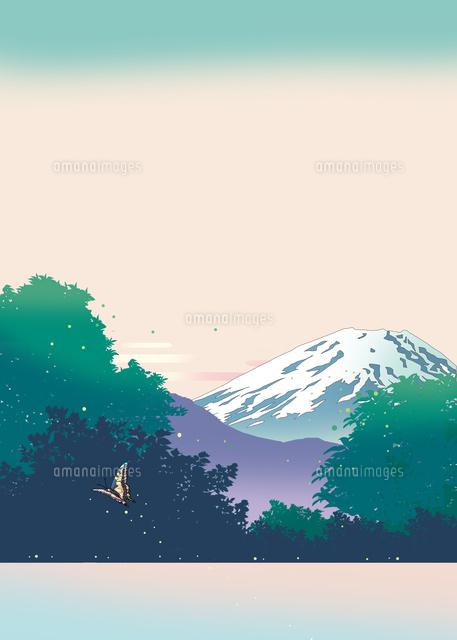 富士山 風景画 浮世絵 イラスト