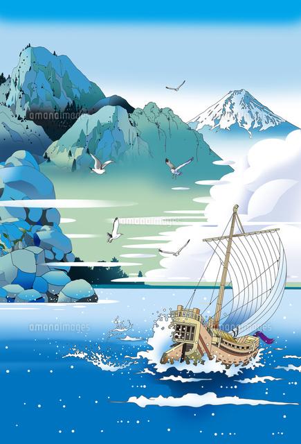 富士山 和風風景画 江戸