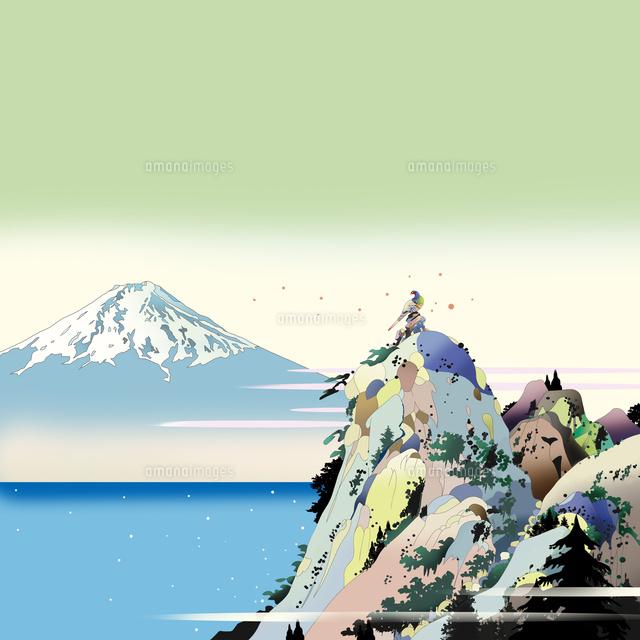 雉 和風 風景画 浮世絵 イラスト