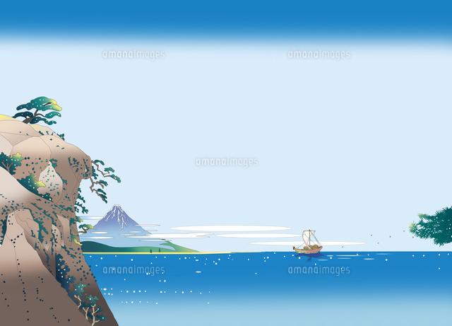 浮世絵イラスト 和風 駿河湾