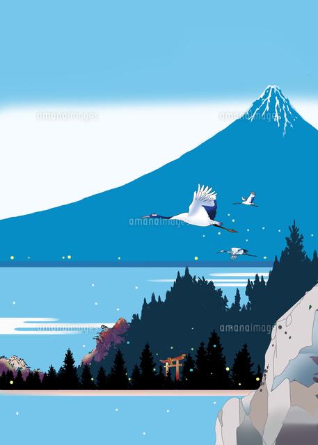 浮世絵イラスト 和風風景 赤富士 北斎
