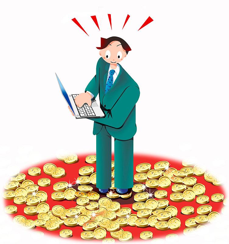 お金 金貨 ポイント ゴールド イラスト 画像 素材 投資 株 金 パソコン 男性 FX 為替 レート 金融 取引 証券 先物取引 外貨 株価 株主