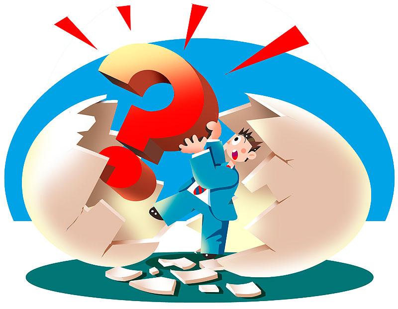 疑問 イラスト 画像 素材 仕事 ビジネス 疑問 質問 Q&A はてな ? クエッションマーク 卵 サラリーマン 会社員 男性