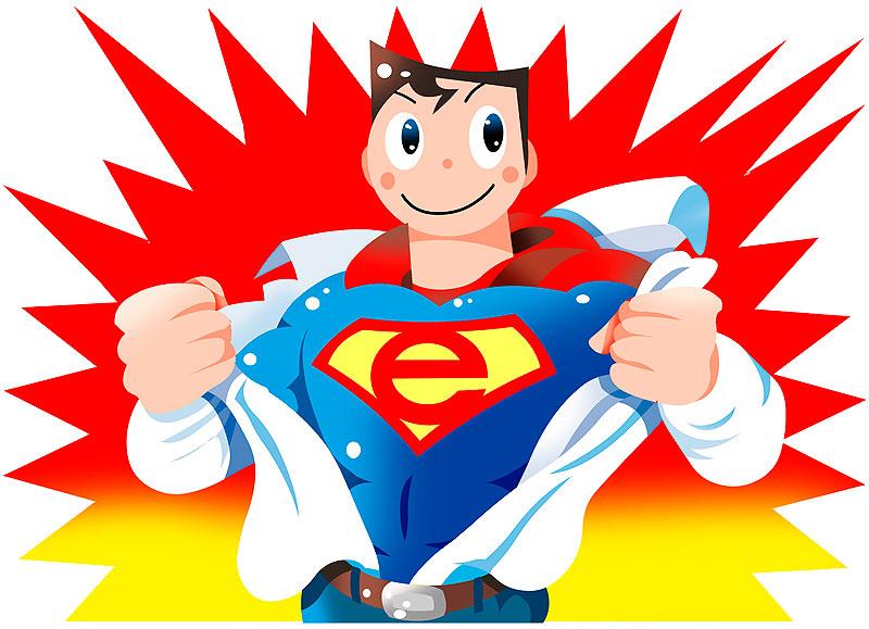イラスト 画像 素材 スーパーマン 男性 コスチューム 変身 肉体改造 元気 ポップ