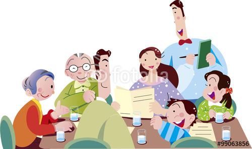 ファミレス、レストラン、外食、食事、家族、老後、シニア、世代、孫、老後
