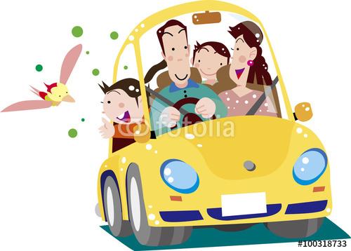 ファミリー、外出、自動車、自家用車、ドライブ