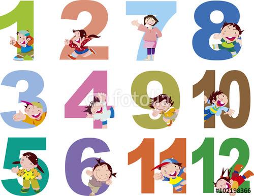 子供、1年、季節、カレンダー、ベクター、イラスト