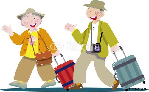 老後、旅行、シルバームーン、定年、スーツケース