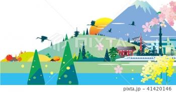 イラスト、風景イラスト、日本観光、インバウンド