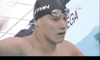 北京オリンピック 競泳男子200Mバタフライ決勝 松田丈志が銅メダル