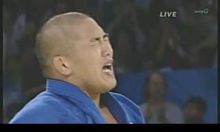 北京五輪 柔道男子100キロ超級 石井慧が金メダル獲得