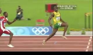北京オリンピック 陸上男子100M決勝 ウサイン・ボルトが世界新で金メダル