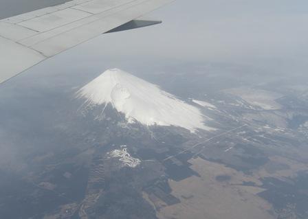 上空からみた富士山