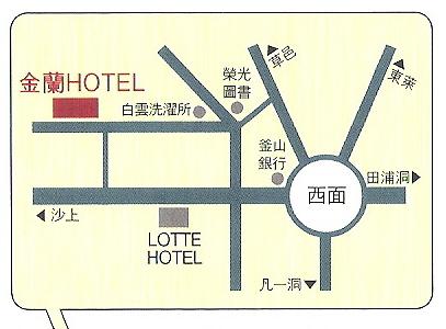 金襴ホテル地図