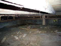 床束の無い手抜き工事の写真