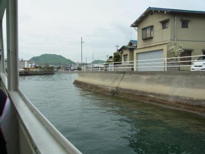 尾道・向島への船からの景色