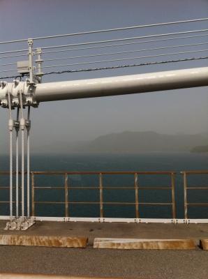 伯方・大島大橋から瀬戸内を望む