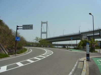 今治から見る来島海峡大橋