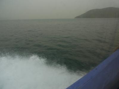 高速船から見る瀬戸内海の景色